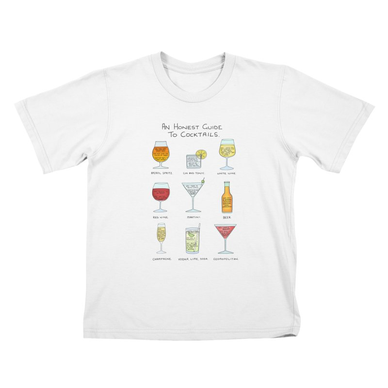 An Honest Guide to Cocktails Kids T-Shirt by Prinstachaaz