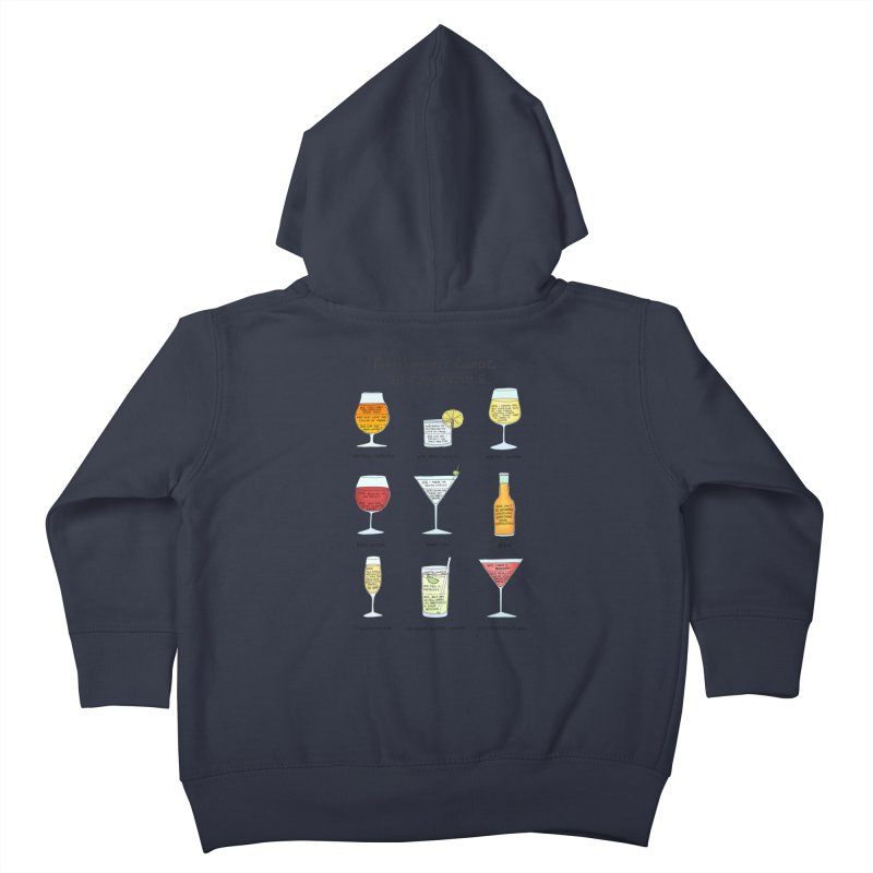 An Honest Guide to Cocktails Kids Toddler Zip-Up Hoody by Prinstachaaz