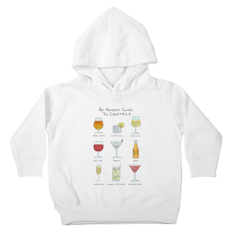 An Honest Guide to Cocktails Kids Toddler Pullover Hoody by Prinstachaaz