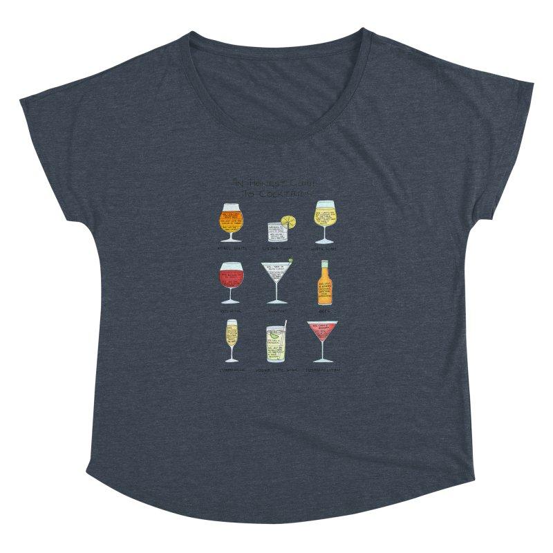 An Honest Guide to Cocktails Women's Dolman Scoop Neck by Prinstachaaz