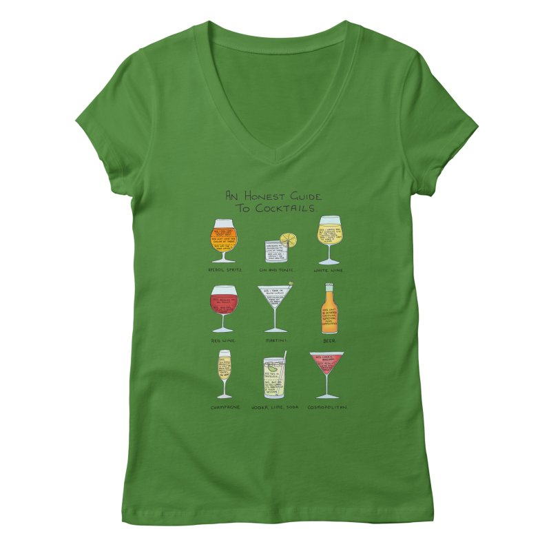 An Honest Guide to Cocktails Women's Regular V-Neck by Prinstachaaz