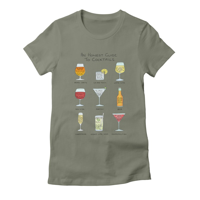 An Honest Guide to Cocktails Women's Fitted T-Shirt by Prinstachaaz