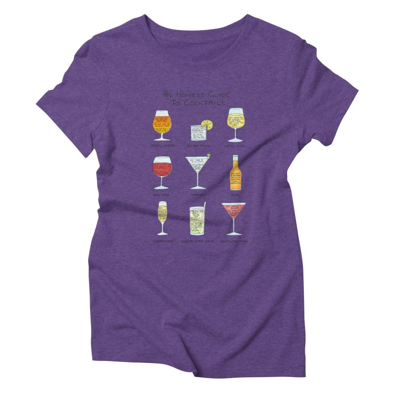 An Honest Guide to Cocktails Women's Triblend T-Shirt by Prinstachaaz