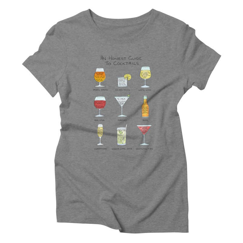 An Honest Guide to Cocktails Women's Triblend T-Shirt by Prinstachaaz