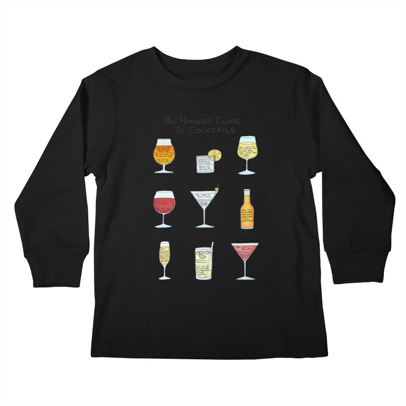 An Honest Guide to Cocktails Kids Longsleeve T-Shirt by Prinstachaaz