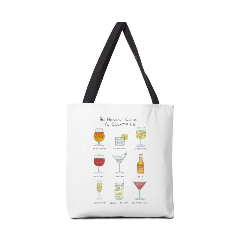 An Honest Guide to Cocktails Accessories Tote Bag Bag by Prinstachaaz