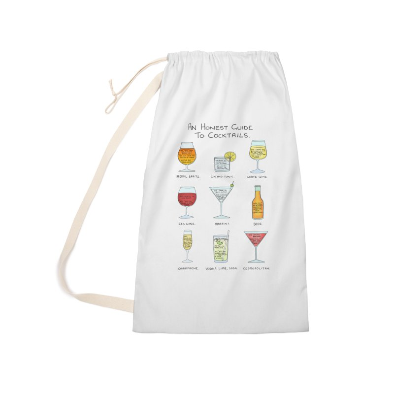 An Honest Guide to Cocktails Accessories Laundry Bag Bag by Prinstachaaz