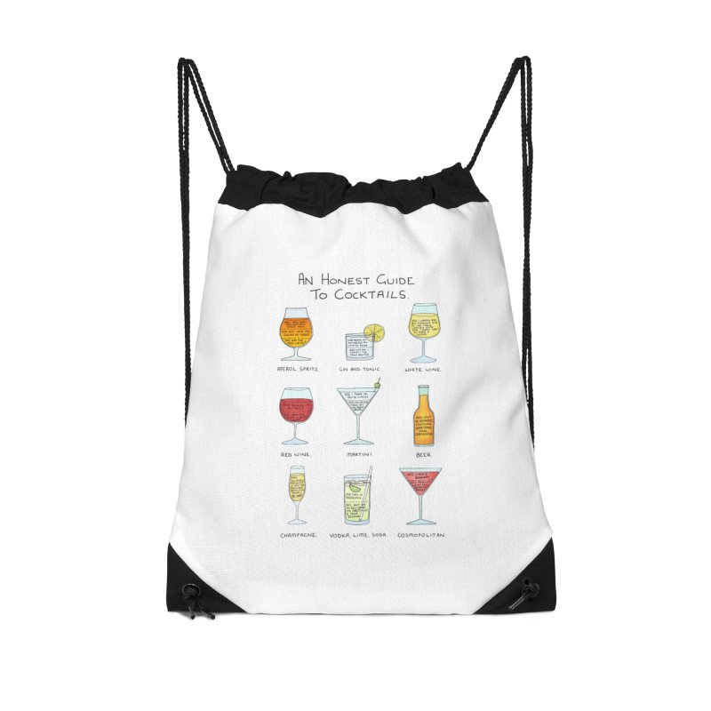 An Honest Guide to Cocktails Accessories Drawstring Bag Bag by Prinstachaaz