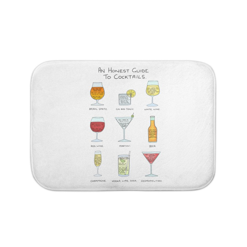 An Honest Guide to Cocktails Home Bath Mat by Prinstachaaz