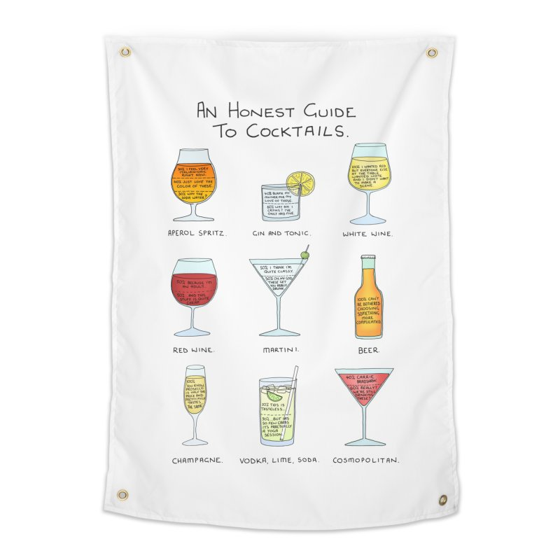 An Honest Guide to Cocktails Home Tapestry by Prinstachaaz