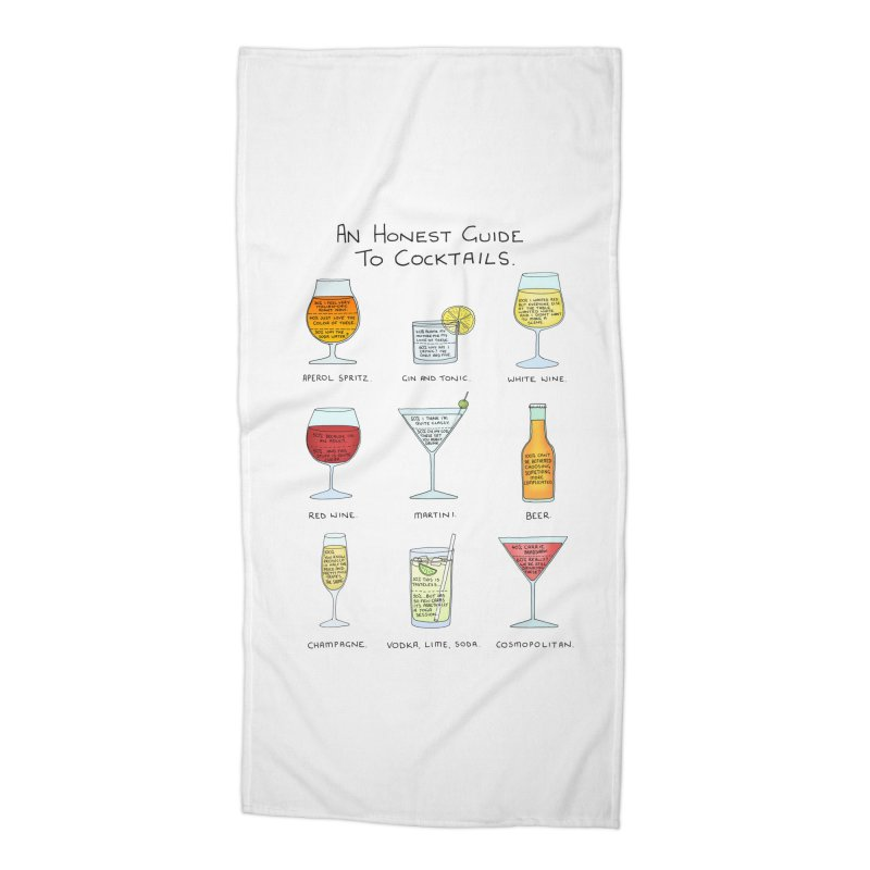 An Honest Guide to Cocktails Accessories Beach Towel by Prinstachaaz