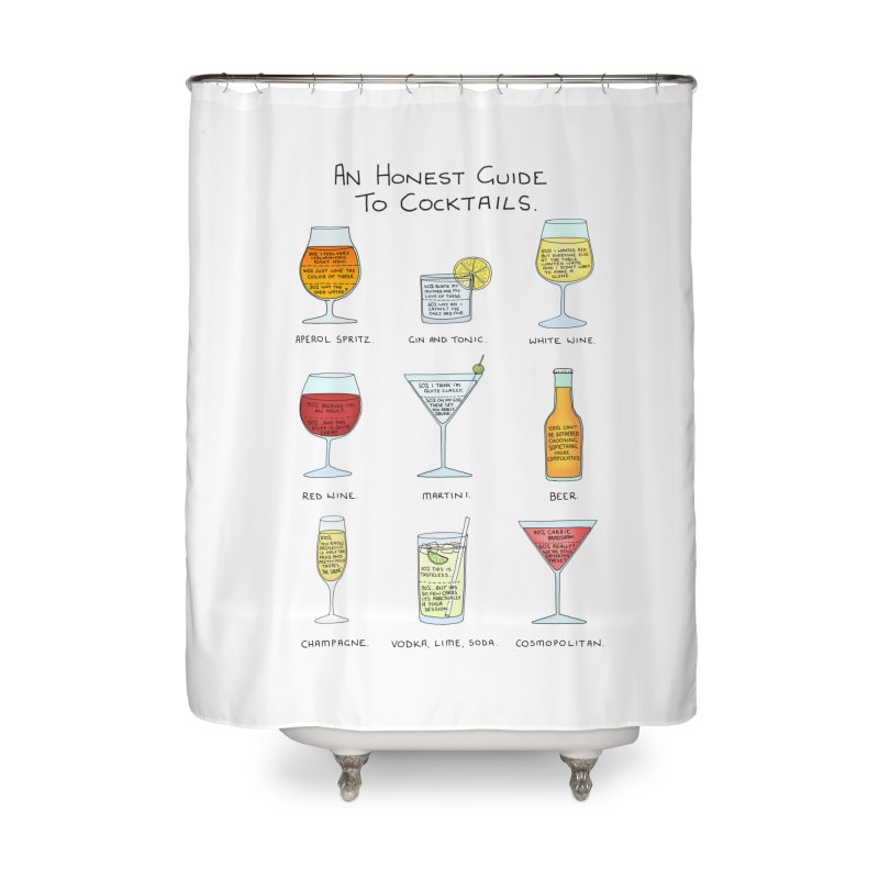 An Honest Guide to Cocktails Home Shower Curtain by Prinstachaaz
