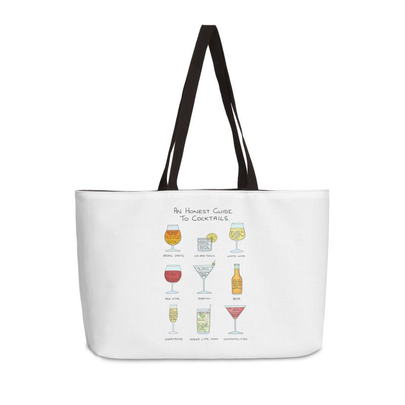 An Honest Guide to Cocktails Accessories Weekender Bag Bag by Prinstachaaz