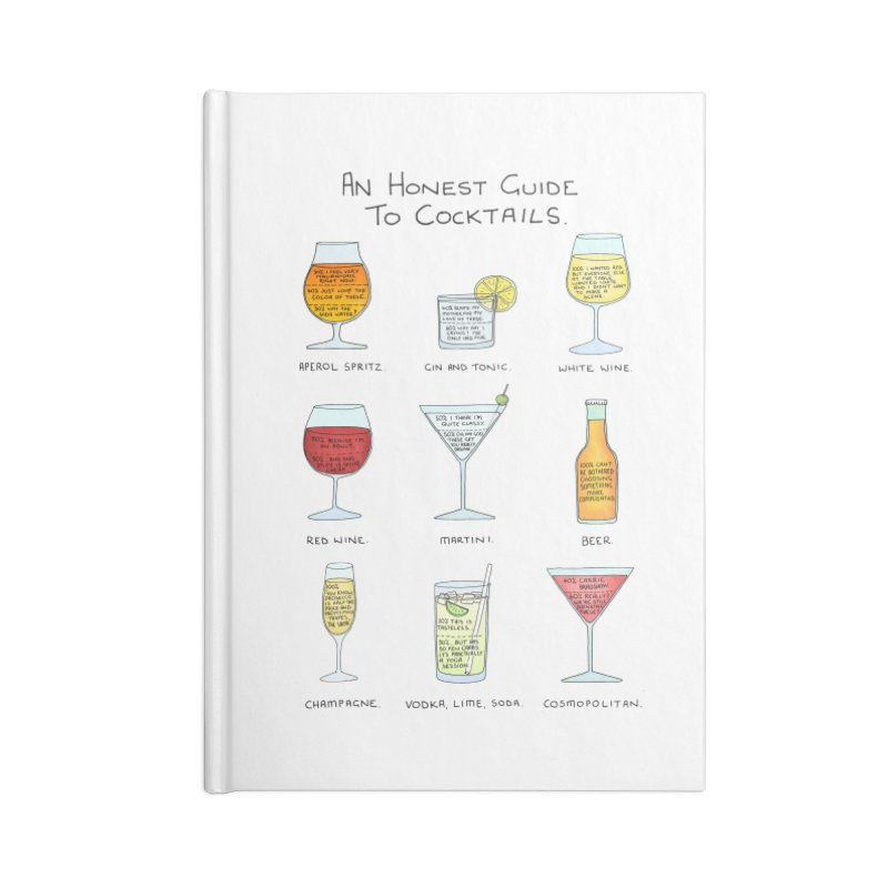 An Honest Guide to Cocktails Accessories Lined Journal Notebook by Prinstachaaz