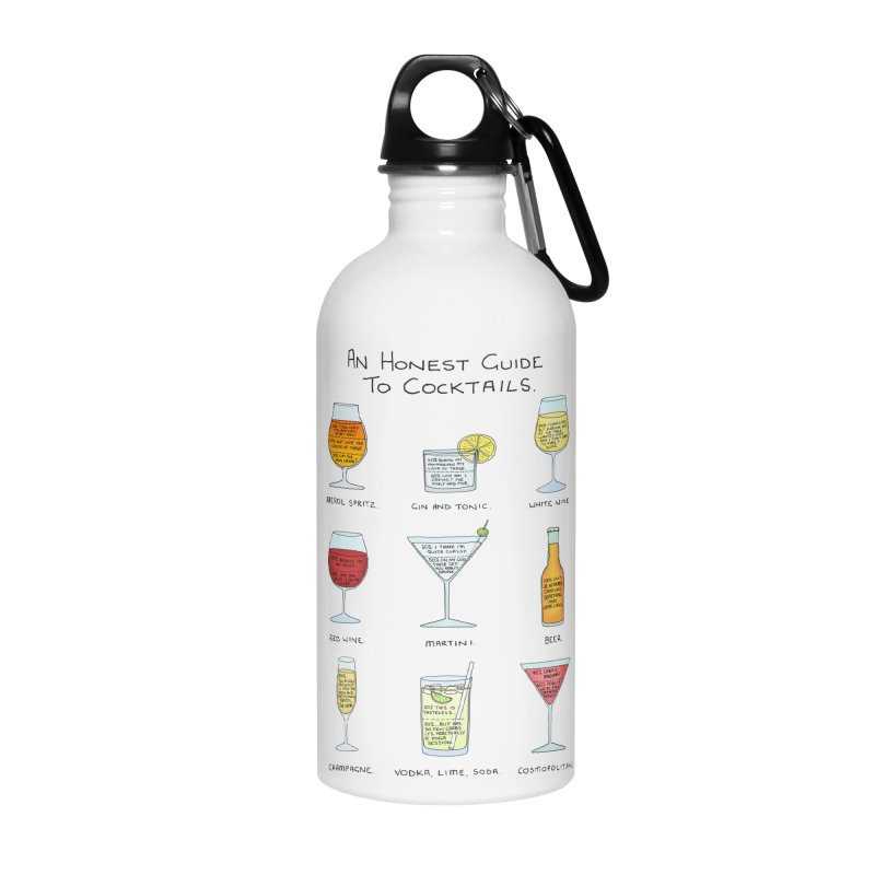 An Honest Guide to Cocktails Accessories Water Bottle by Prinstachaaz