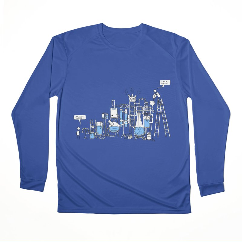 Coffee Please. Men's Performance Longsleeve T-Shirt by Prinstachaaz