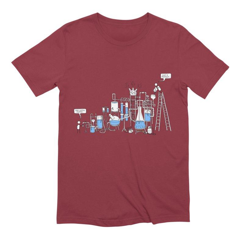 Coffee Please. Men's Extra Soft T-Shirt by Prinstachaaz