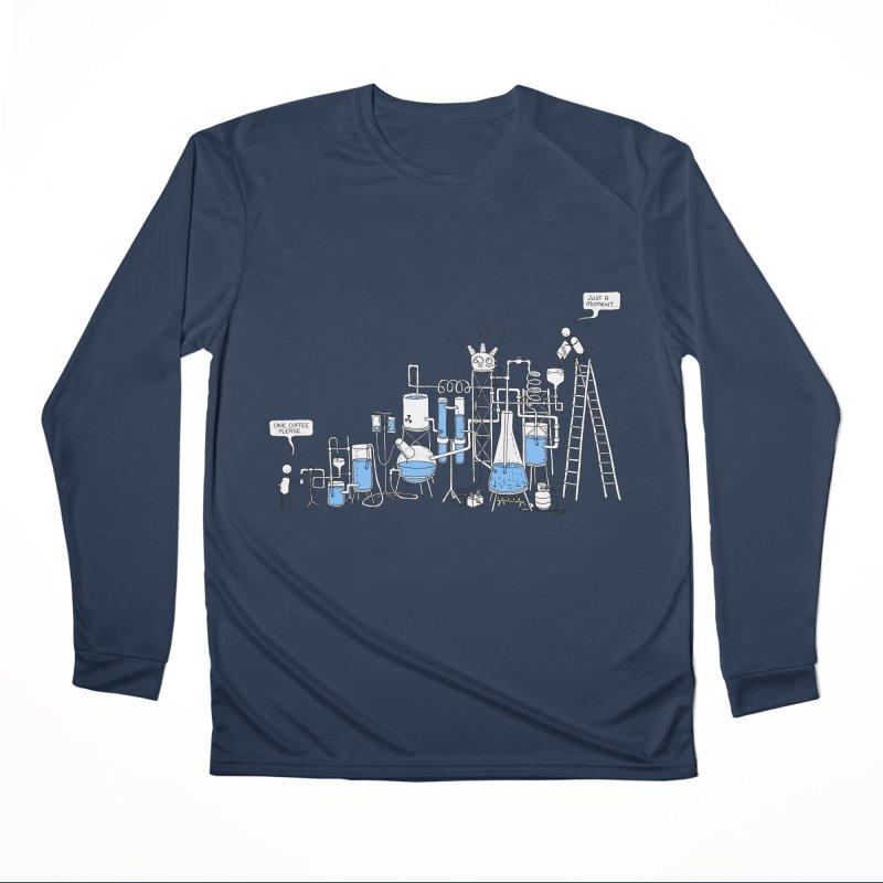Coffee Please. Men's Performance Longsleeve T-Shirt by Prinstachaaz
