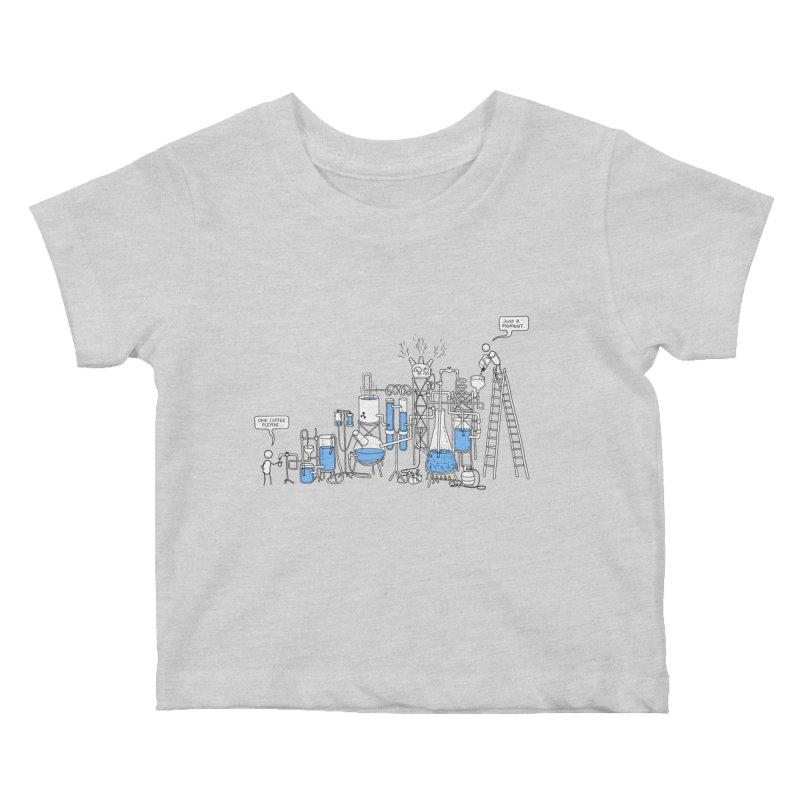 Coffee Please. Kids Baby T-Shirt by Prinstachaaz