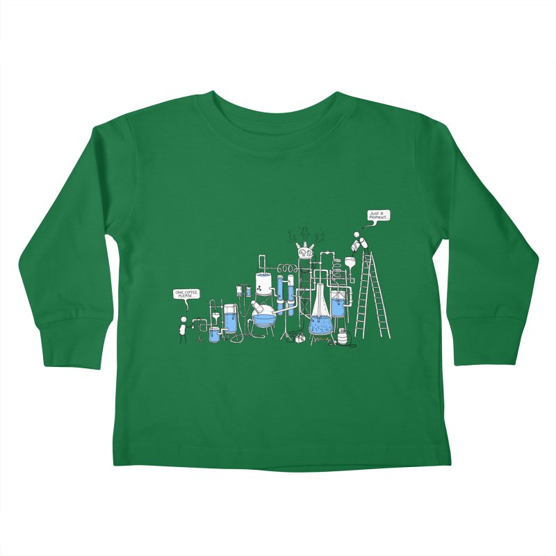 Coffee Please. Kids Toddler Longsleeve T-Shirt by Prinstachaaz