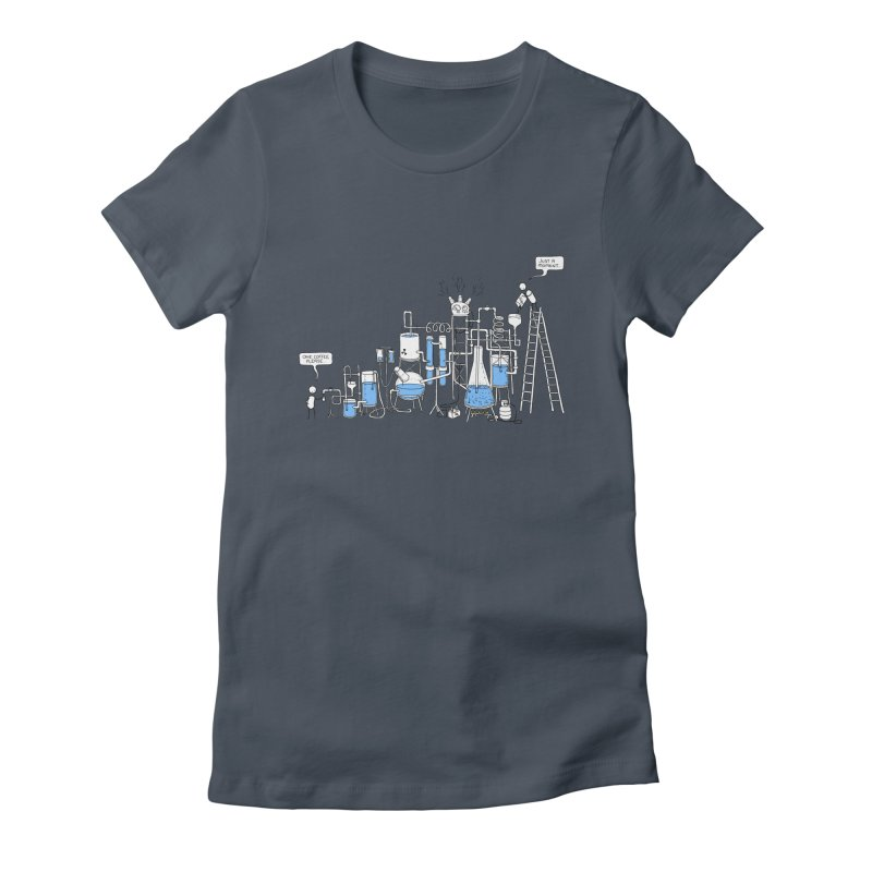 Coffee Please. Women's Fitted T-Shirt by Prinstachaaz
