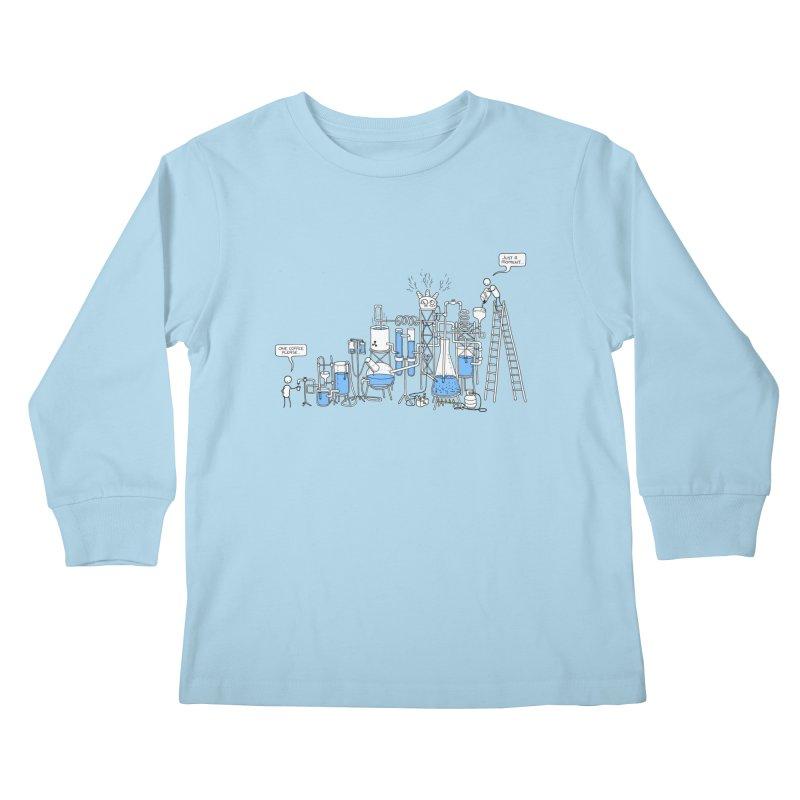 Coffee Please. Kids Longsleeve T-Shirt by Prinstachaaz