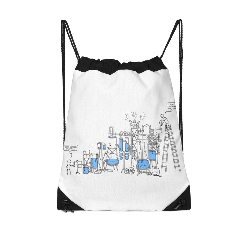 Coffee Please. Accessories Drawstring Bag Bag by Prinstachaaz