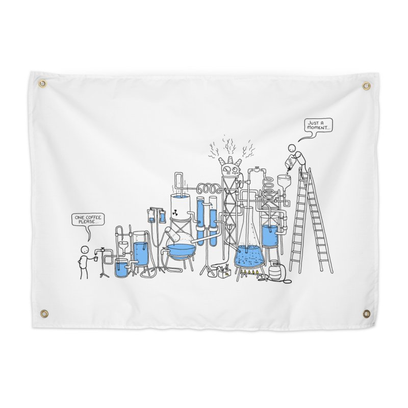 Coffee Please. Home Tapestry by Prinstachaaz