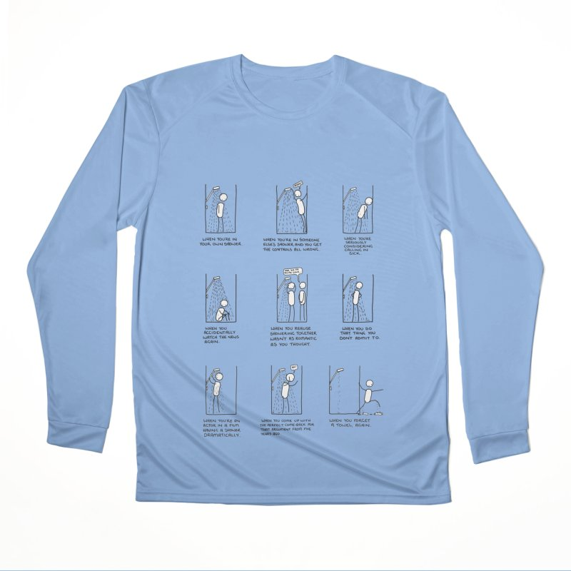 Life in the Shower. Men's Performance Longsleeve T-Shirt by Prinstachaaz
