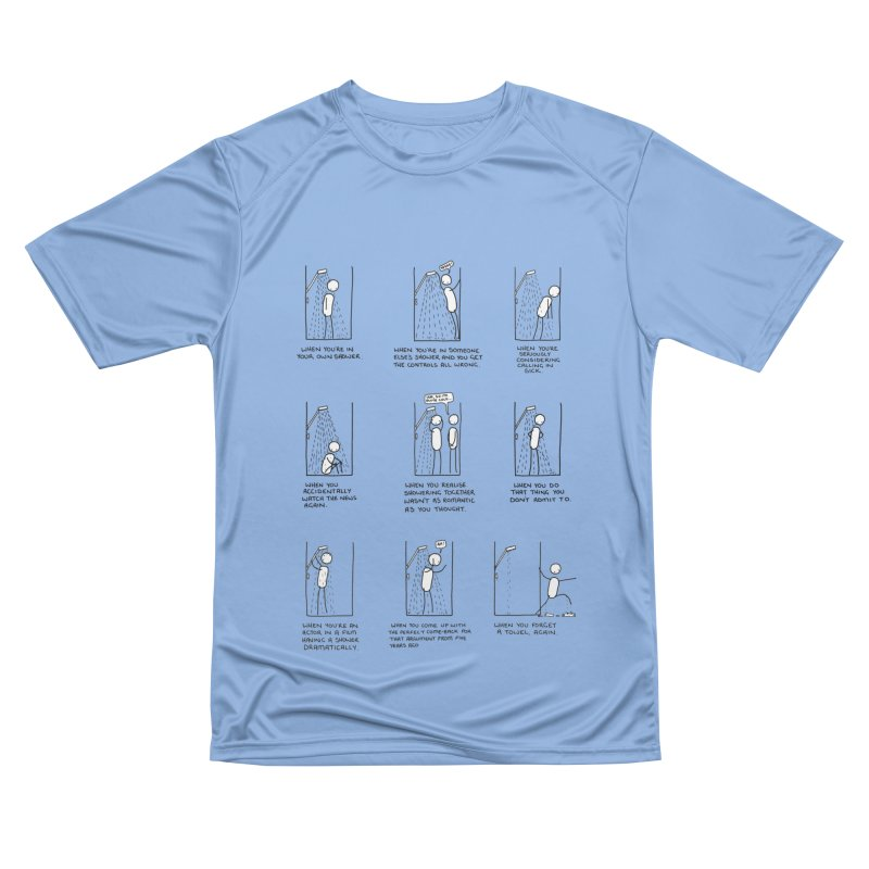 Life in the Shower. Men's Performance T-Shirt by Prinstachaaz
