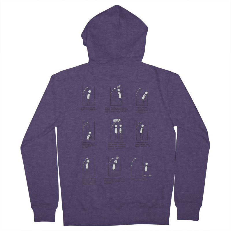 Life in the Shower. Men's French Terry Zip-Up Hoody by Prinstachaaz