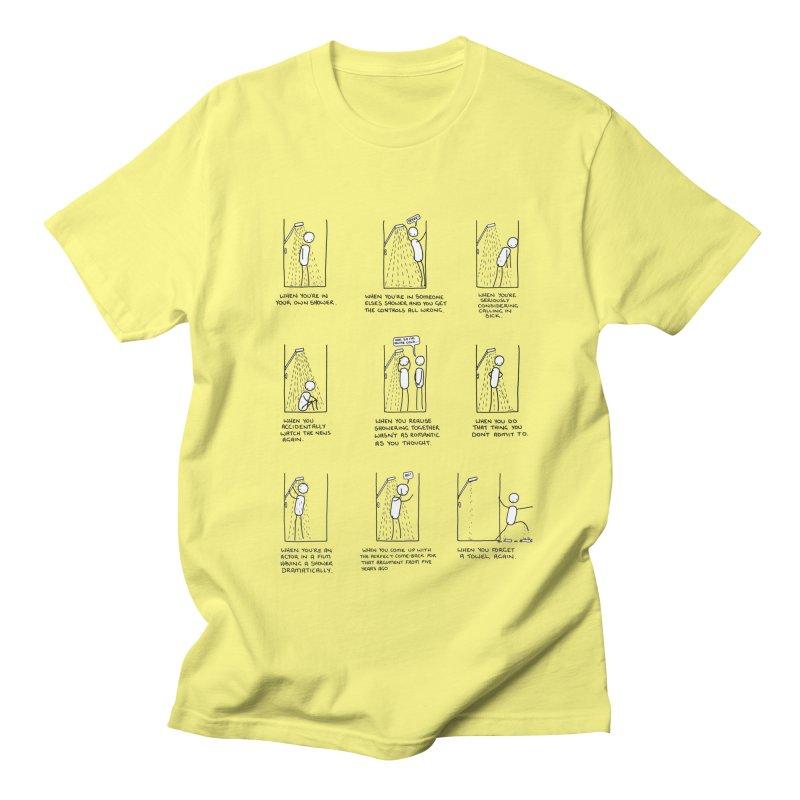 Life in the Shower. Men's Regular T-Shirt by Prinstachaaz