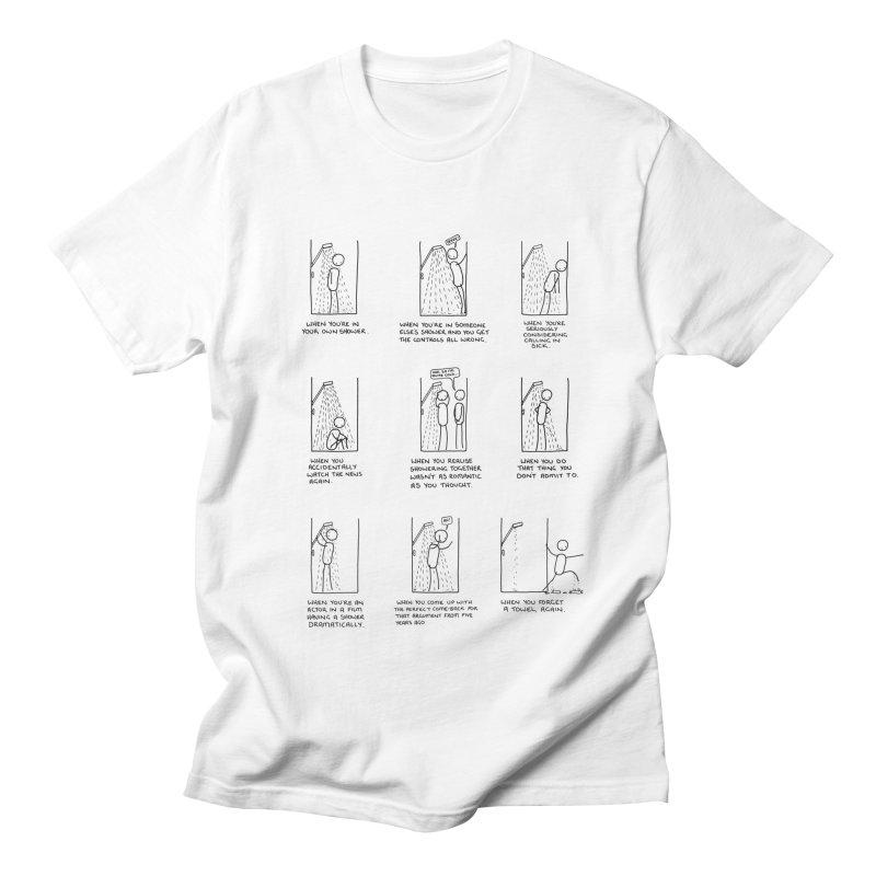Life in the Shower. Women's Regular Unisex T-Shirt by Prinstachaaz