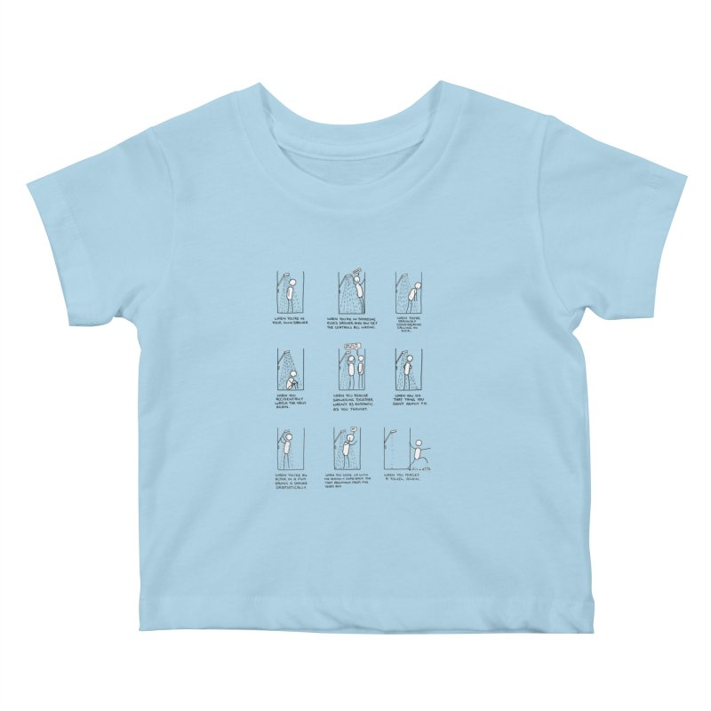 Life in the Shower. Kids Baby T-Shirt by Prinstachaaz