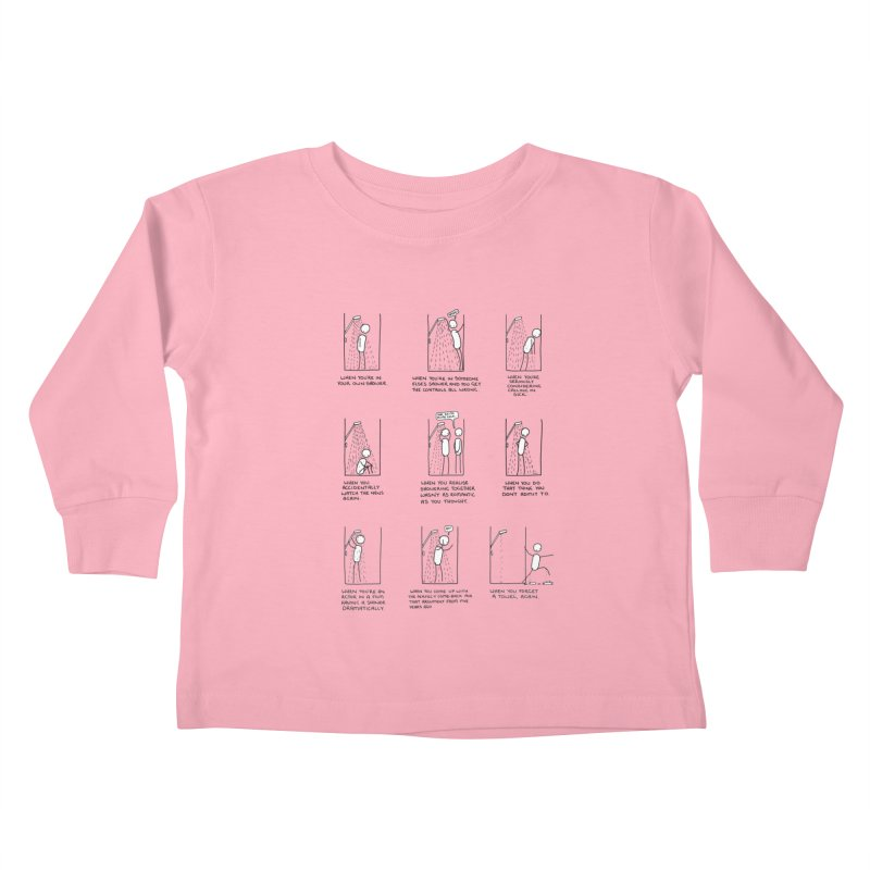 Life in the Shower. Kids Toddler Longsleeve T-Shirt by Prinstachaaz