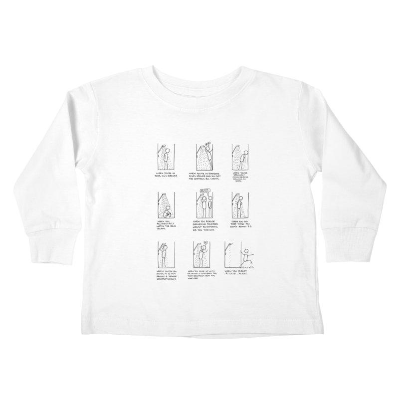 Life in the Shower. Kids Toddler Longsleeve T-Shirt by Prinstachaaz