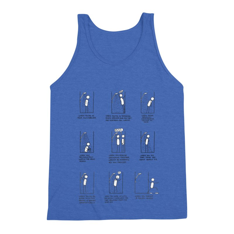 Life in the Shower. Men's Triblend Tank by Prinstachaaz