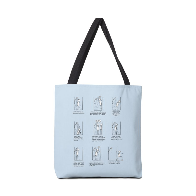 Life in the Shower. Accessories Tote Bag Bag by Prinstachaaz