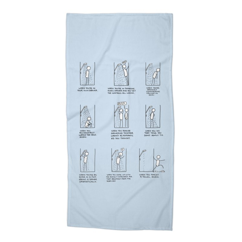 Life in the Shower. Accessories Beach Towel by Prinstachaaz