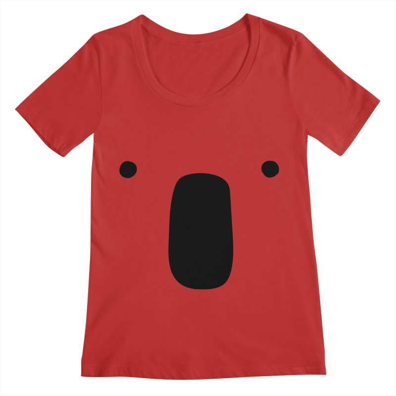 Koala Face - Bushfire Relief. Women's Regular Scoop Neck by Prinstachaaz