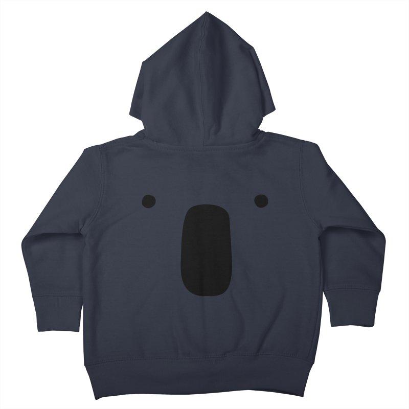 Koala Face - Bushfire Relief. Kids Toddler Zip-Up Hoody by Prinstachaaz