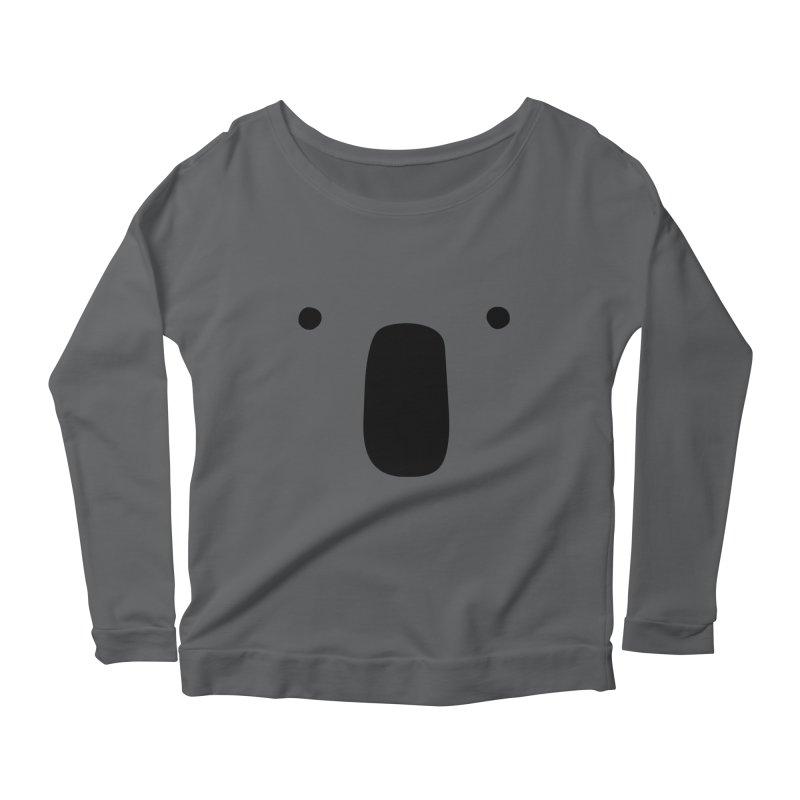 Koala Face - Bushfire Relief. Women's Scoop Neck Longsleeve T-Shirt by Prinstachaaz
