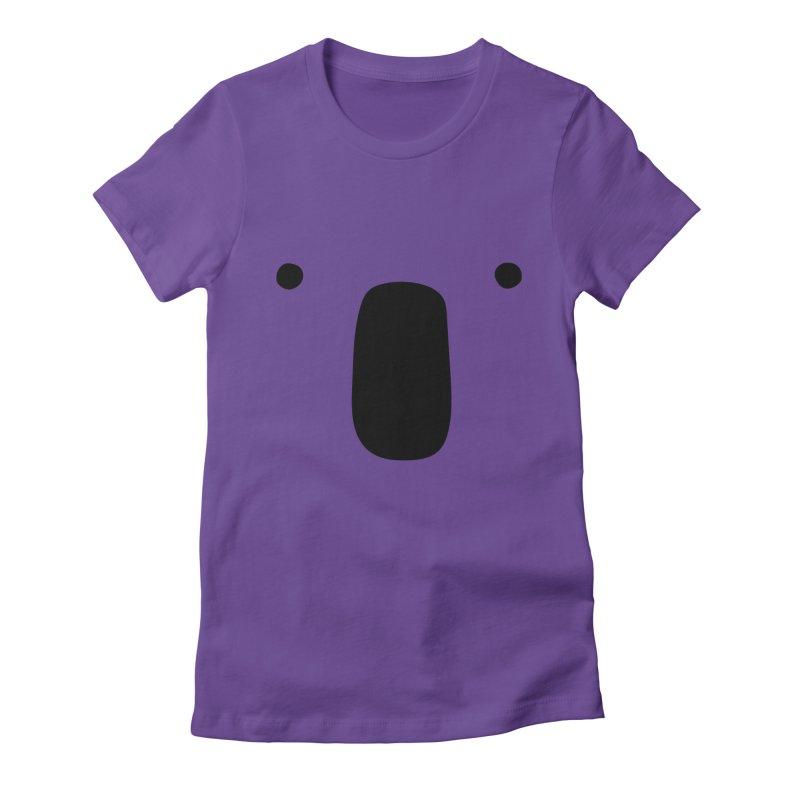 Koala Face - Bushfire Relief. Women's Fitted T-Shirt by Prinstachaaz