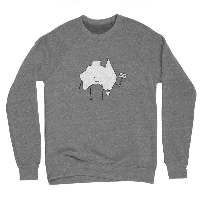 Bushfire Relief Men's Sponge Fleece Sweatshirt by Prinstachaaz