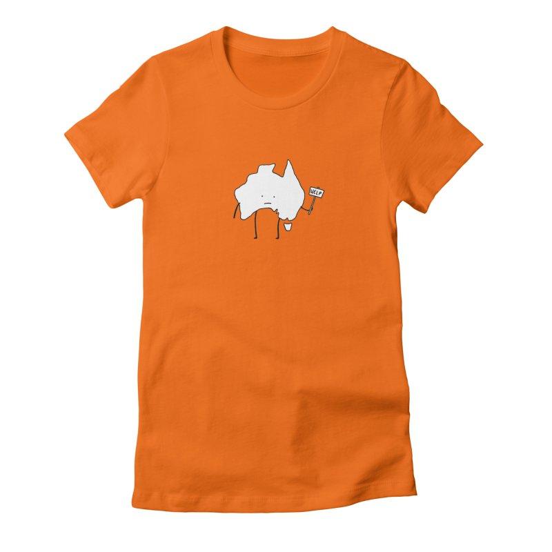 Bushfire Relief Women's Fitted T-Shirt by Prinstachaaz