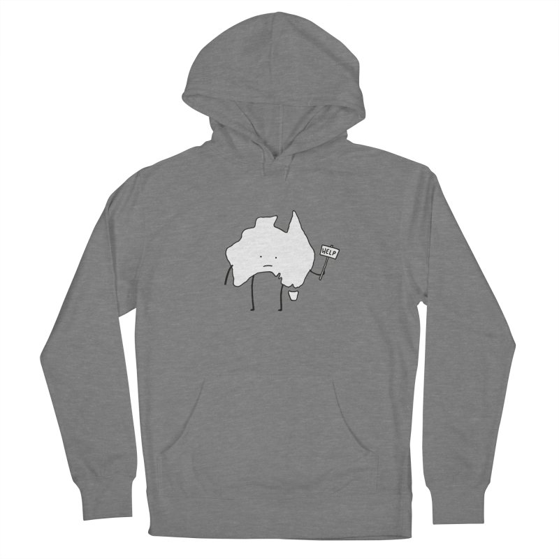 Bushfire Relief Women's French Terry Pullover Hoody by Prinstachaaz