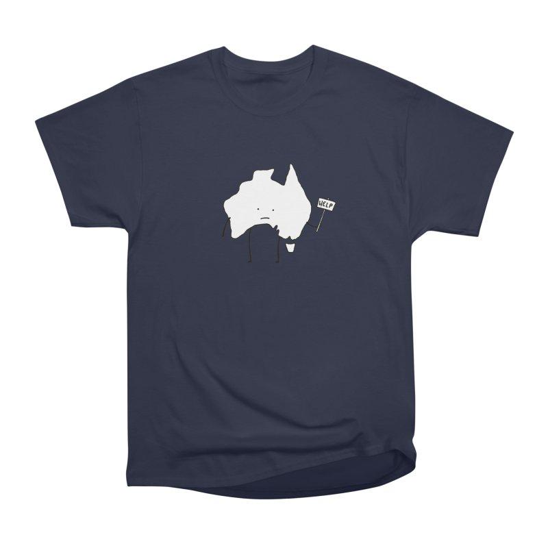 Bushfire Relief Men's Heavyweight T-Shirt by Prinstachaaz