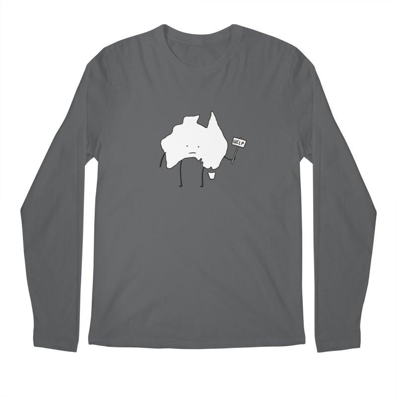 Bushfire Relief Men's Regular Longsleeve T-Shirt by Prinstachaaz