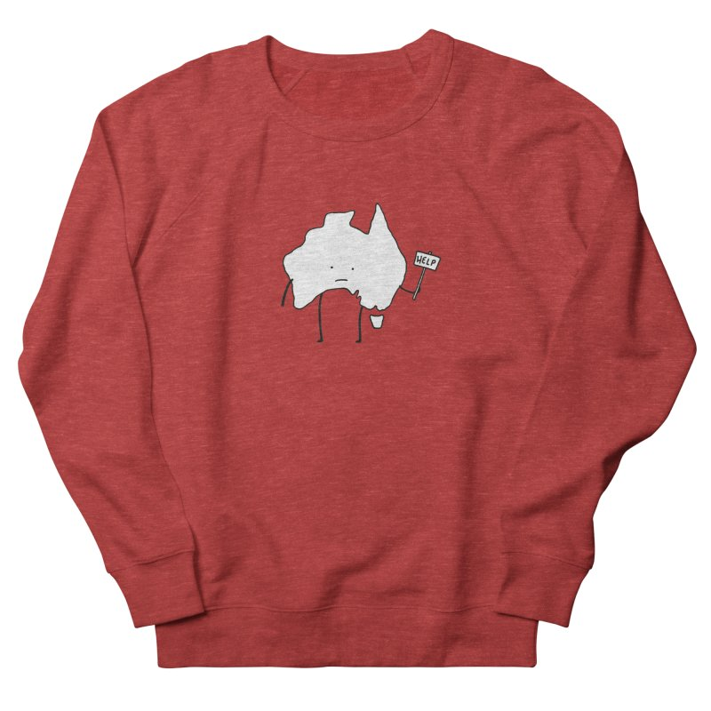 Bushfire Relief Women's French Terry Sweatshirt by Prinstachaaz