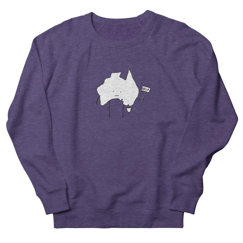 Bushfire Relief Men's French Terry Sweatshirt by Prinstachaaz